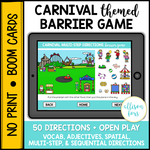 carnival barrier game speech therapy