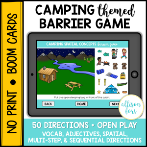 camping barrier game speech therapy