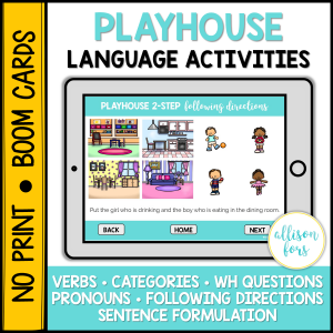 dollhouse language activities