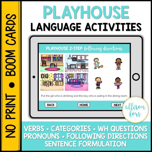 dollhouse language activities