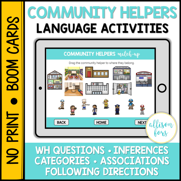 community helpers speech therapy