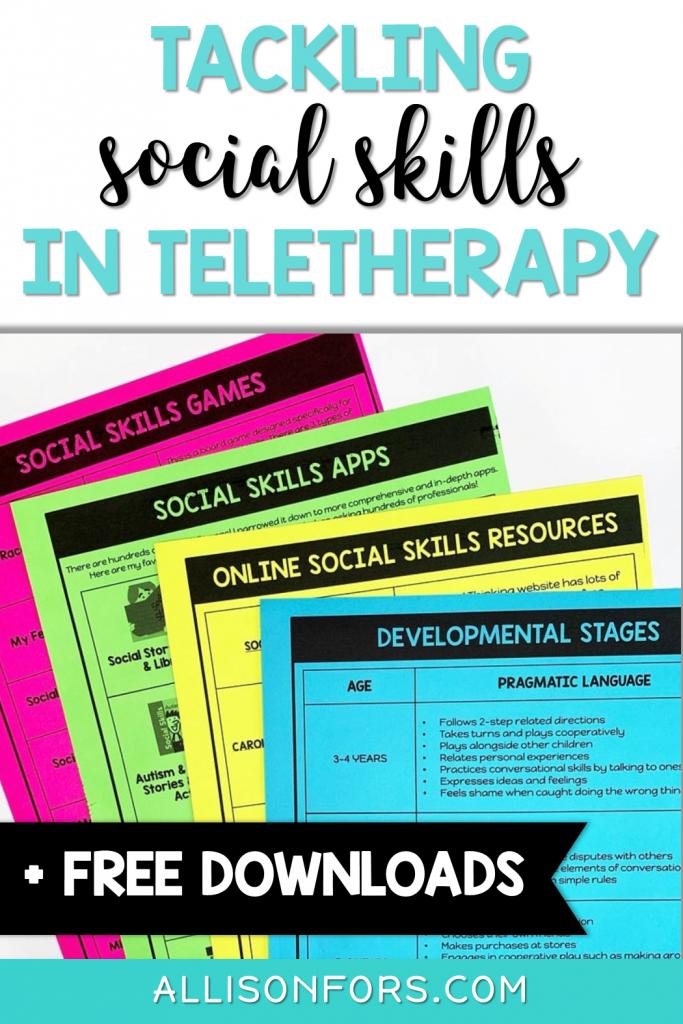 social skills in teletherapy