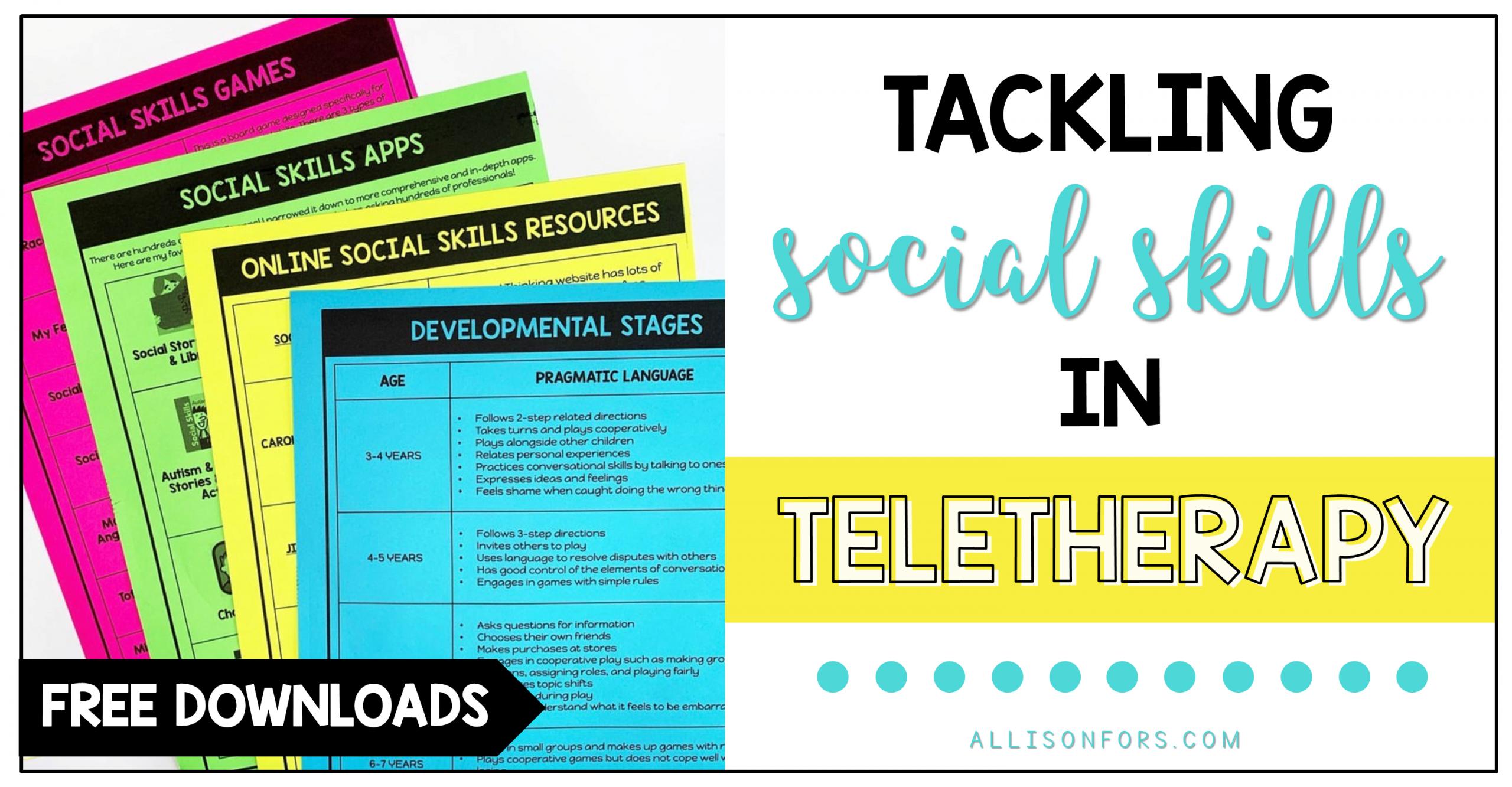 Tackling Social Skills in Teletherapy