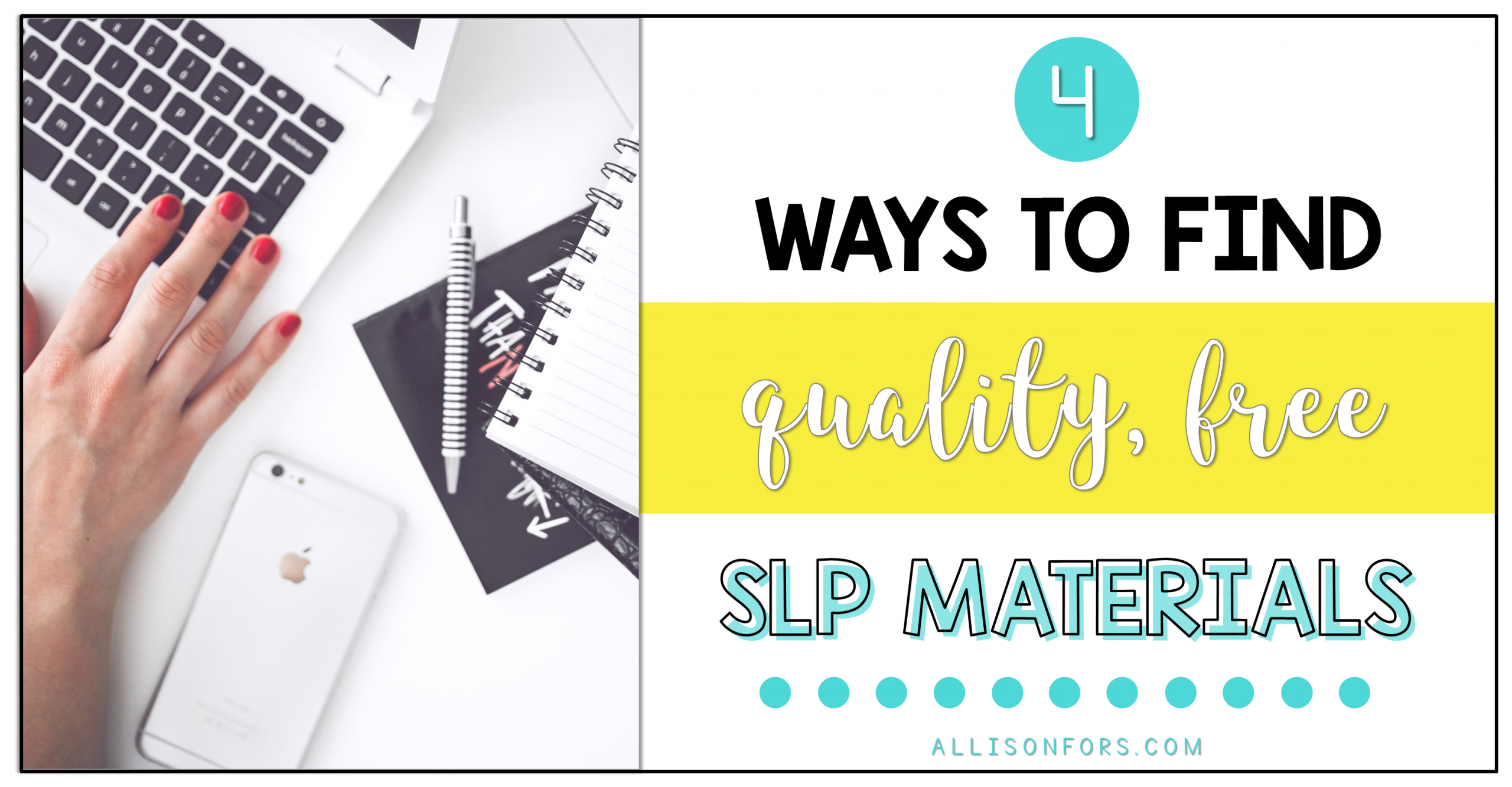 4 Ways to Find Quality, Free Speech Therapy Materials