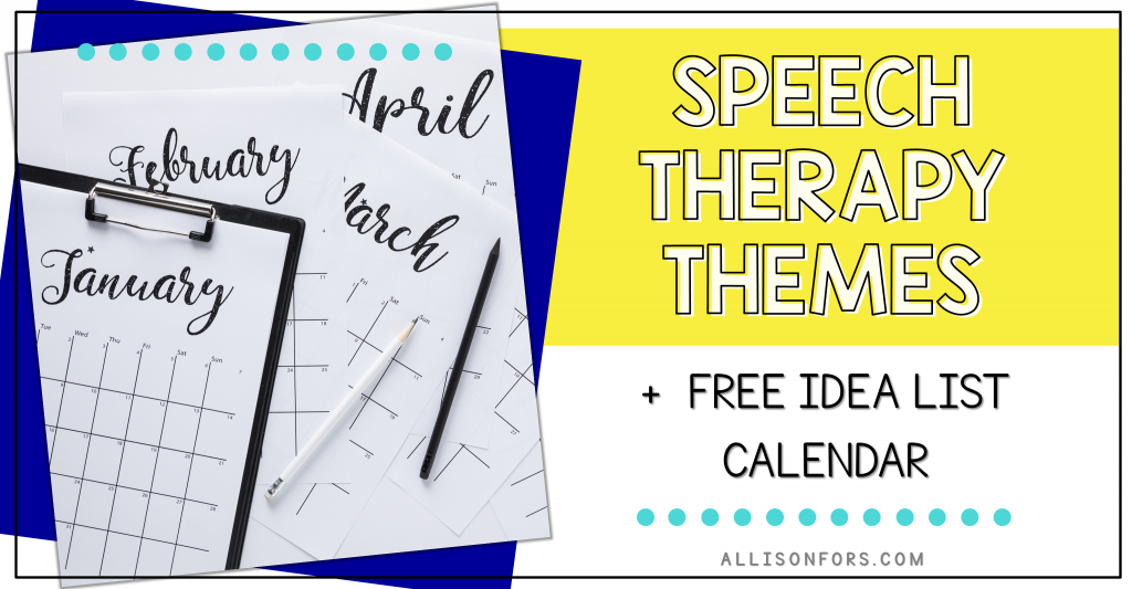 speech therapy themes free