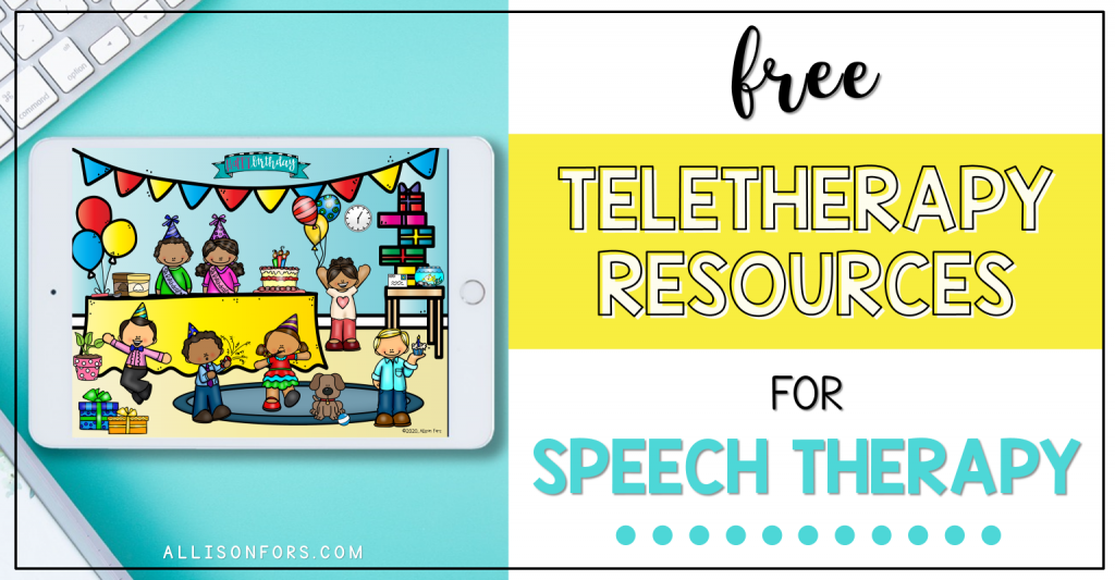 teletherapy resources speech therapy