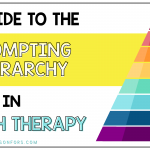 A Guide to the Prompting Hierarchy in Speech Therapy
