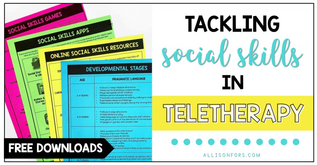 social skills teletherapy