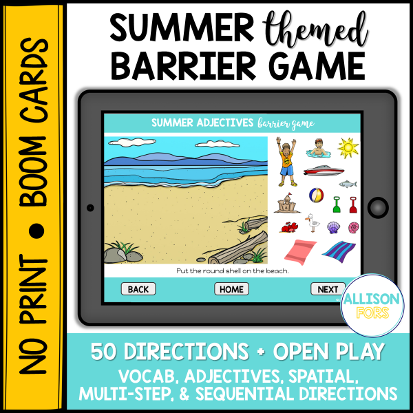 summer digital barrier game