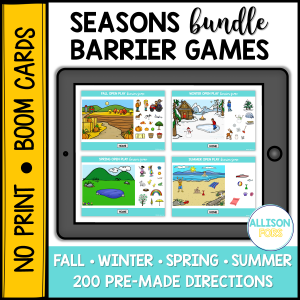 barrier games speech therapy