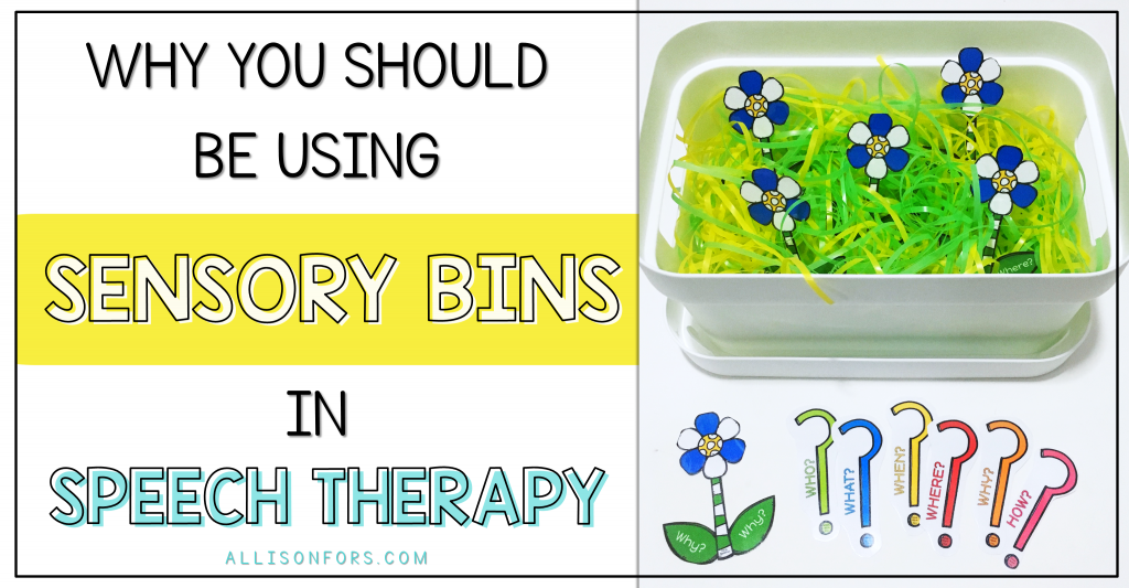 sensory bins speech therapy