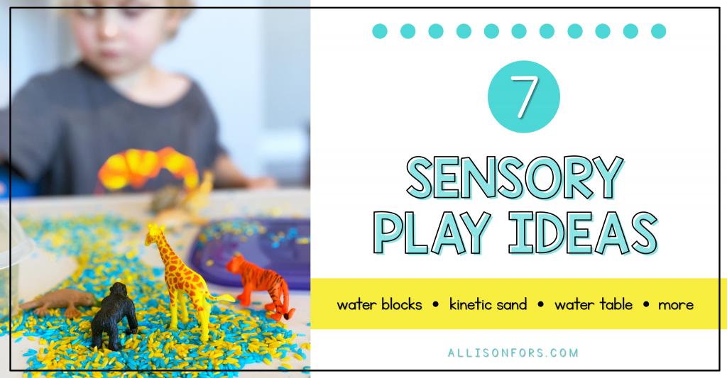 sensory play activity ideas