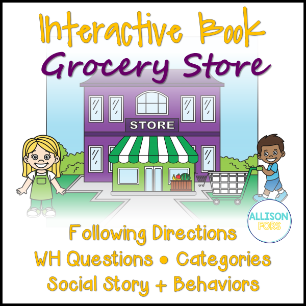 grocery store interactive book