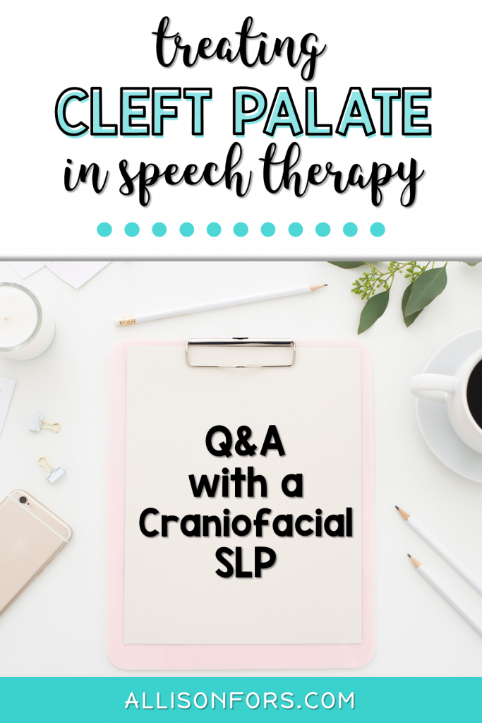 cleft palate in speech therapy