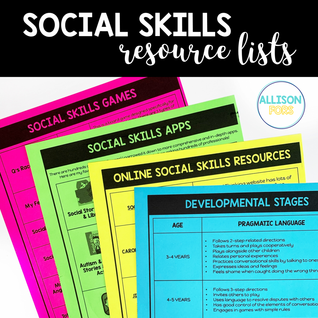 social skills lists