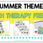 Free Summer Speech Therapy Activities