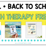 Free Fall Speech Therapy Activities