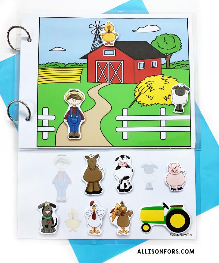farm interactive book speech therapy